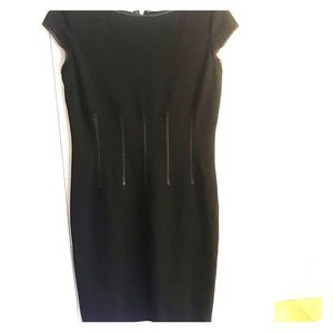Ellen Tracy black dress with piping design. Size 4